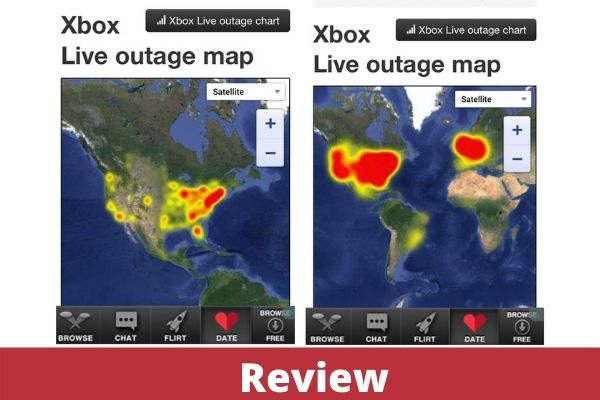 Xbox live outage map
